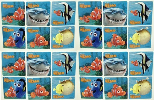 "FINDING NEMO STICKERS - Finding Nemo Birthday Party Favor Sticker Set Consisting of 45 Stickers Featuring 6 Different Designs Measuring 2.5"" Per Sticker Featuring Nemo, Dory and Bruce"