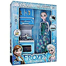 Toy Frozen Kitchen Set with Doll Battery Operated from Amayra Store