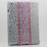 3D Swarovski Luxury Diamond AB Crystal Multi Color Strips Bling Case Cover for ipad 2 & the New ipad 3 (100% Handcrafted by BlingAngels)