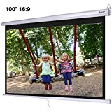 Instahibit 100 16 9 Manual Pull Down Projection Screen Wall