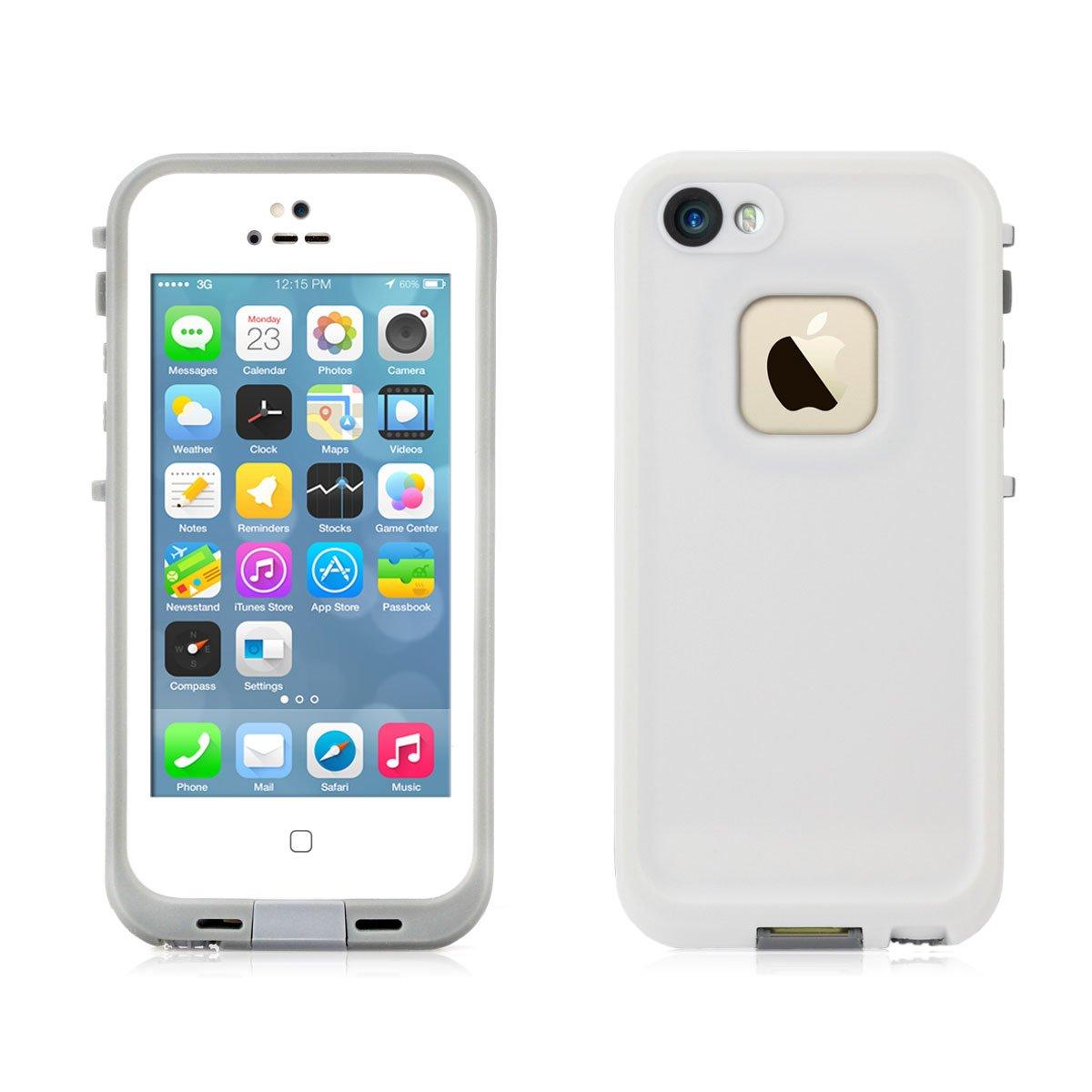 Alienwork Funda für iPhone 5;iPhone 5S Las cuatro pruebas protectora bumper case Resistente al agua Plástico gris AP533-02 - Electrónica Comentarios y más información