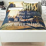 Stylish George Home Wake Up To NYC Manhattan New York Duvet Set DOUBLE - 200 x 200 cm and two pillowcase 48 x 74 cm