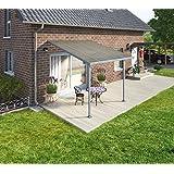 CLEMENS HOBBY TEC Terrassendach, grau (BxT: 305 x 295 cm) 295 cm, einbrennlackiert, grau
