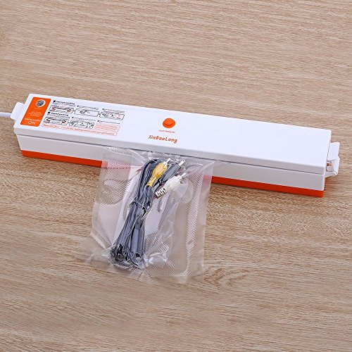 Mini Food Vacuum Sealer, Handheld Magnetic-Type Quickly Fresh Maintaining Seal Packaging Machine including 15 free packing bags (Quiet Handheld Vacuum compare prices)