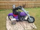 7.2 Ft Airblown Inflatable Lighted Reaper on Motorcycle - Halloween