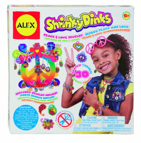 Peace and Love Shrinky Dinks Jewelry Craft Set