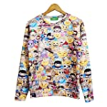 IDeaMall Women Men Emoji Hoodies Pull...