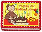 Curious George Personalized Edible Cake Topper Image -- 1/4 Sheet