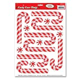 Beistle Candy Cane Clings, 12-Inch by 17-Inch Sheet
