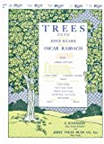 Trees Song - Low In Bb Edition SHEET MUSIC (Poem by Joyce Kilmer, Music by Oscar Rasbach) Piano & Voice