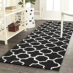 Safavieh Cambridge Collection CAM130E Handmade Black and Ivory Wool Runner, 2 feet 6 inches by 6 feet (2\'6\