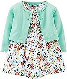 Carter's Baby Girls 2-piece Floral Dress & Cardigan Set