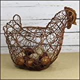 Craft Outlet Hen Tin Egg Holder, 14.5 by 11.5-Inch, Rust