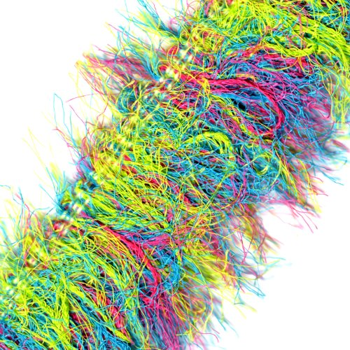 Venus Ribbon 14960-H 2-1/2-Inch Multi Ultralash Fringe, 3-Yard, Turquoise/Apple Green/Aqua
