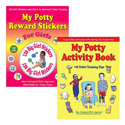 Potty Training Books Kit: Best Toilet Training Reward Chart for Girls with Stickers and Coloring Activity for Toddler Kids (Potty Training Girls Chart compare prices)