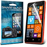 Smart Glaze® Crystal Clear Premium LCD Screen Protectors Packs With Polishing Cloth & Application Card For Nokia Lumia 610 Pack Of 10