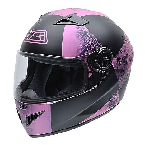 NZI 050261G617 Must GNRSF Casque de Moto, Noir/Rose, Taille : L