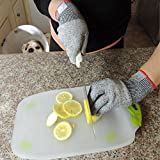 Kibaron Cut Resistant Gloves: Food Grade Kitchen Glove with Level 5 Protection for Hand Safety while Cutting, Cooking or Doing Yard Work. (Large)
