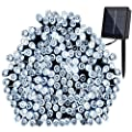 GDEALER Solar String Lights 72ft 200 LED 8 Modes White Solar Powered Waterproof Starry Fairy Outdoor String Lights Christmas Decoration Lights for Garden Path, Party, Bedroom Decoration (1)