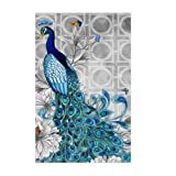 Adarl 5D DIY Diamond Painting Rhinestone Pictures Crystals Embroidery Kits Arts, Crafts & Sewing Cross Stitch Peacock 2 (Color: peacock 2, Tamaño: 12