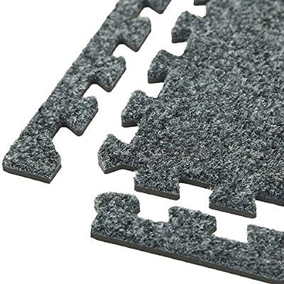 IncStores Premium Soft Carpet Foam Tiles 2ft x 2ft Interlocking Home & Trade Show Flooring Foam Mats Including 2 Edge Pieces