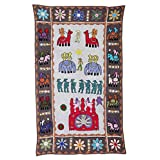 Rajrang Home Décor Embroidered Patch Work Gray Wall Hanging - B00TQRJWSY