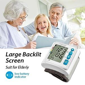 MIBEST Wrist Blood Pressure Monitor - BP Cuff Meter with Display - Blood Pressure Machine up 5.3-8.5 Wrists - Blood Pressure Tester Kit with Case - Blood Pressure Gauge with Memory