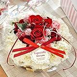 花由 生花のフラワーケーキ 5号ホイップベリー 箱レッドリボン【誕生日プレゼント バースデーケーキ フラワーギフト】