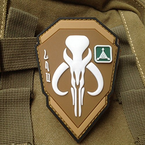 3D PVC Star Wars Boba Fett MandalOrian Bantha Skull Tactical Rubber Velcro Patch