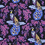V&A Fabric - Peacock (Fuschia)