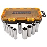 DEWALT DWMT73814 SAE Drive Deep Socket Set (10 Piece), 1/2