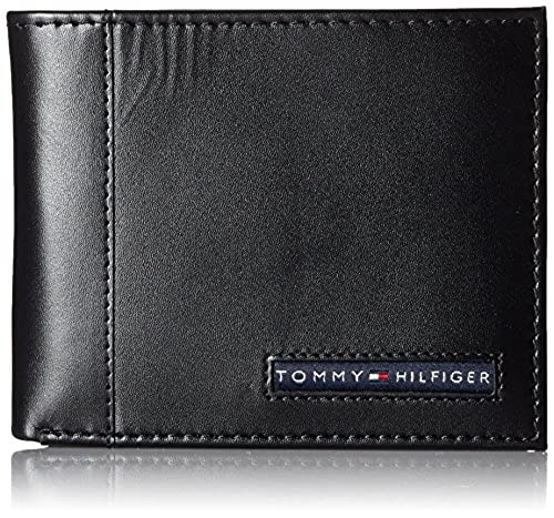 07. Tommy Hilfiger Men's Leather Cambridge Passcase Wallet