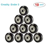Ender3 CR-10S Pro Creality 3D Printer Accessory V-Slot POM Wheels Plastic Pulley V Groove Ball Bearings Pulley Passive Round Wheels Roller for Ender 3/Ender 3 Pro/CR-10/CR-10S/CR-10S Pro /10 pcs (Tamaño: For Ender 3/CR-10/CR-10S/10pcs)