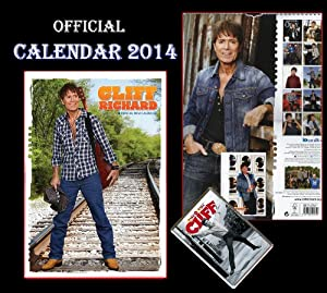 OFFICIAL CLIFF RICHARD CALENDRIER 2014 + CLIFF RICHARD AIMANT DE RÉFRIGÉRATEUR - CALENDAR 2014 - KALENDER 2014