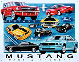 Mustang Chronology Tin Sign 16 x 13in