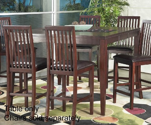 Counter Height Pub Dining Table with Butterfly Leaf Design in Cherry Finish