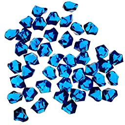 CYS Acrylic Rocks in Different Colors. Pack of 4 lbs (Cobalt Blue)
