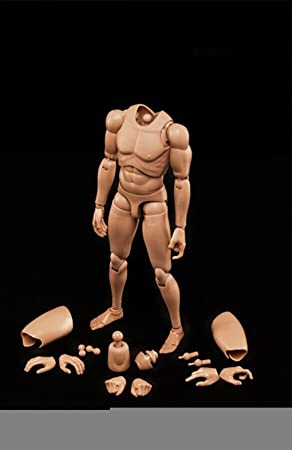 """1/6 Scale Action Figure Male Muscular Male Nude Body Doll Toys Jouets Asain Skin for HT Dam CD Crazy Dummy 12"""" Action Figure"""