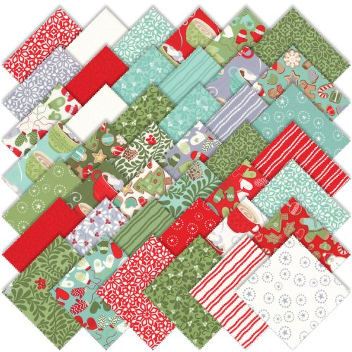 Moda Kate Spain In from the Cold Charm Pack, Set of 42 5-inch (12.7cm) Precut Cotton Fabric Squares