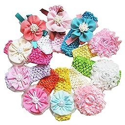 Cozylife Baby Girl\'s Beautiful Headbands (10 Pack)