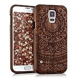 kwmobile Holz Hülle Natur Case für Samsung Galaxy S5 / S5