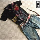mts156 和柄 ポロシャツ 家紋 桜 虎柄【3色】メンズ 半袖 Tシャツ 半袖Tシャツ ラメ