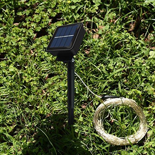 Solar Rope Lights Ebay: Solar String Lights,Kumeda 100 LED Copper Wire Light 54