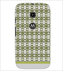PrintDhaba Flower Pattern D-1486 Back Case Cover for MOTOROLA MOTO E2 (Multi-Coloured)