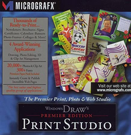 WINDOWS DRAW 6 PRINT STUDIO PREMIER EDITION BY MICROGRAFX