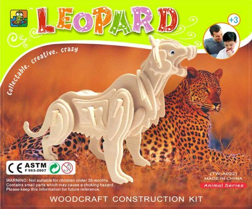 Picture of China Towins Gifts & Toys 3d Wooden Puzzle-leopard (B003FWV0EU) (3D Puzzles)