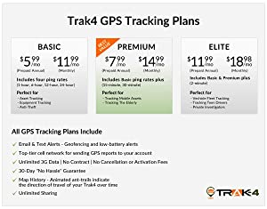 Trak-4 GPS Tracker for Tracking Vehicles, Assets and People (Color: Gray)