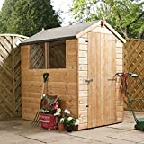 6ft x 4ft Shiplap Apex Wooden Storage Shed - Brand New Single Door 6x4 Tongue and Groove Sheds