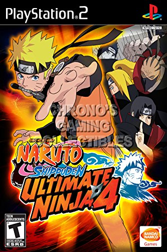CGC Huge Poster - Naruto Shippuden Ultimate Ninja 4 - BOX ART Sony Plastation 2 PS2 - PS2215 (16
