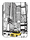 Disguised® New York Times Square Kindle Paperwhite / Kindle Original 4th Generation PU Leather Flip Case Cover Designed by Katie Reed
